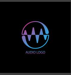 Audio wave spectrum visual logo liquid spectrum vector