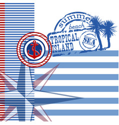 Background on the marine theme vector