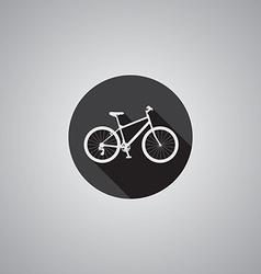 bicycle symbol flat vector image