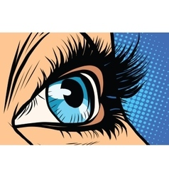 blue woman eye close-up vector image