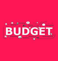 Budget word design vector