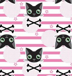 Cat stripe seamless vector