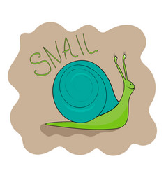 cheerful green snail smiling vector image