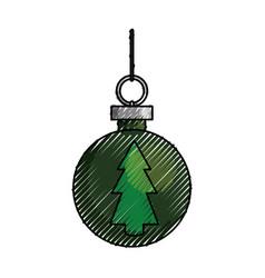 christmas decorative ball vector image