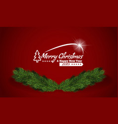 christmas festive greeting card template vector image