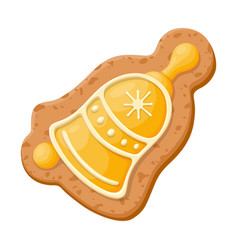 christmas gingerbread sweet cookie homemade fresh vector image