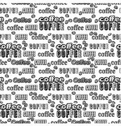 coffee pattern on white background vector image