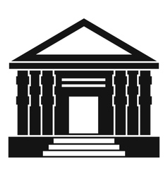 Colonnade icon simple style vector image