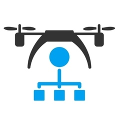 Copter distribution scheme icon vector