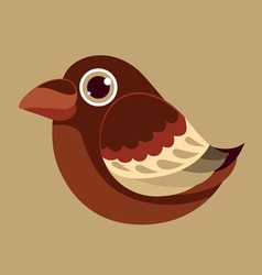 Crow cute bird abstract prehistoric color vector