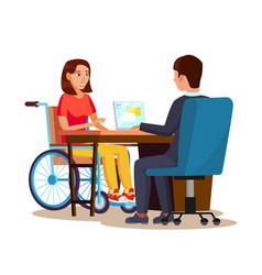 Disabled woman equal opportunities concept vector