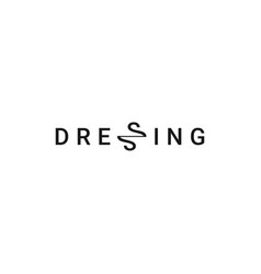dressing logo on white background letter ss vector image