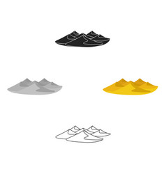 Dunes icon in cartoonblack style isolated on vector