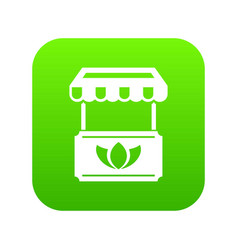 eco stall icon green vector image