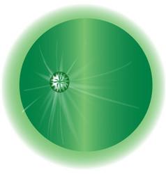 Emerald globe vector