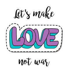 Fashion patch element with quote vector