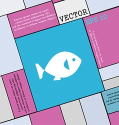 fish icon sign Modern flat style for your design vector image