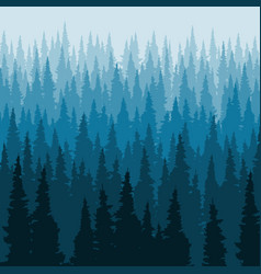 Forest background pine trees silhouette template vector