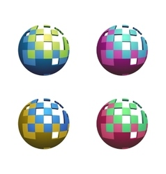 Four Abstract Spheres vector image