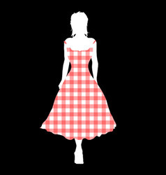gingham night out vector image