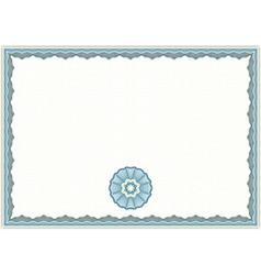 Guilloche certificate template vector