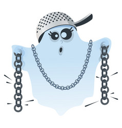 Halloween ghost scare and rattle chains fun vector