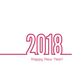 Happy new year 2018 theme vector