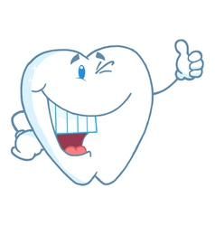 Happy Smiling Tooth Cartoon Mascot Character vector image