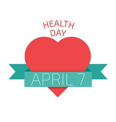 Health day poster Flat style vector