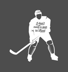 hockey motivational quote vector image