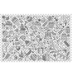 holiday doodle set vector image