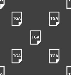 Image File type Format TGA icon sign Seamless vector image