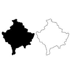 kosovo map vector image