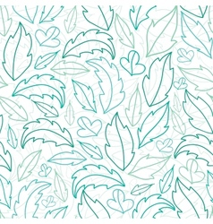 Leaves lineart seamless pattern background vector