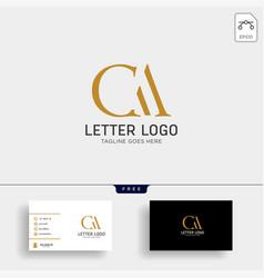 Letter ac ca gold creative logo template vector