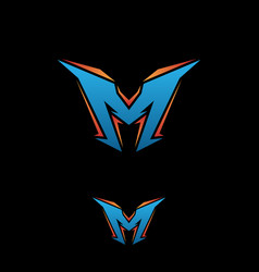 letter m gaming vector image