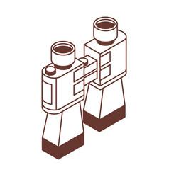 line binoculars isometric icon vector image