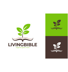 Living bible church logo church logo sign with vector