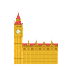 London clock tower architecture design vector