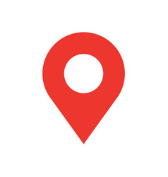 map pin flat design style modern icon simple red vector image