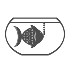 monochrome icon with aquarium vector image