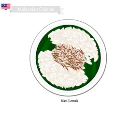 Nasi Lemak or Malaysian Streamed Rice in Coconut vector image