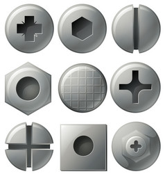 Nine different designs on round and square vector