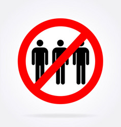 No assembly sign vector