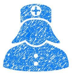 nurse grunge icon vector image