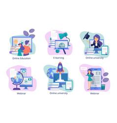 online education web study distance trainings vector image