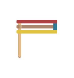 Purim holiday gragger flat design icon vector