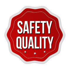 Safety quality label or sticker vector
