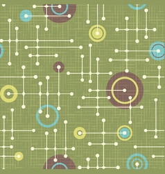 Seamless abstract mid century modern pattern vector
