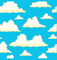 Seamless background with clouds 9 vector